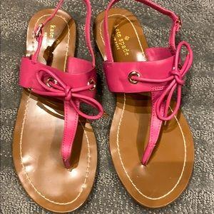 Kate Spade hot pink sandals